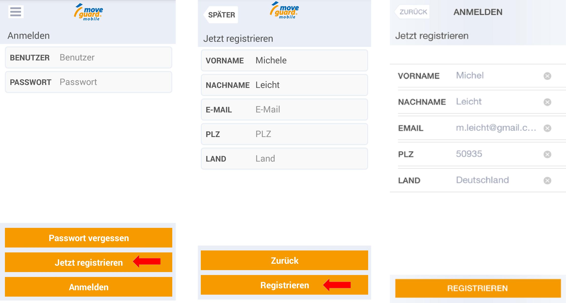 Registrierung moveguard