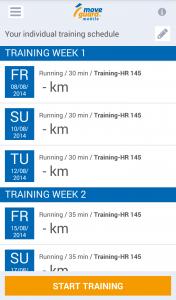 Plan d'entraînement individuel