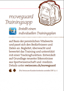 moveguard Trainingsapp Swisscom